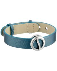 Philip Stein - Blue Stainless Strap Horizion Bracelet - Lyst