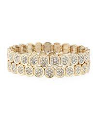 R.j. Graziano | Metallic Pavé Stretch Bracelet Set | Lyst