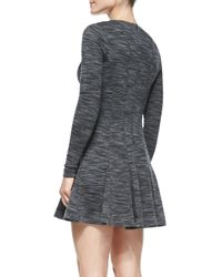 Nicole Miller Artelier | Black Long-sleeve Fit-and-flare Dress | Lyst