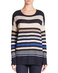 VINCE | Multicolor Superwash Variegated Stripe Sweater | Lyst