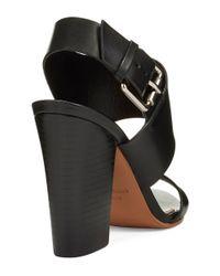 Vince Camuto Signature | Black Debbey Leather Sandals | Lyst