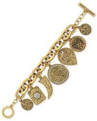 Vince Camuto | Metallic Gold-tone Geometric Charm Bracelet | Lyst