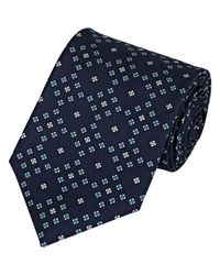 Drake's Blue Men's Silk Faille Necktie for men