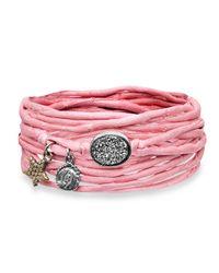 Platadepalo | Trend Pink Silk Bracelet | Lyst