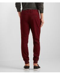 Aéropostale | Purple Solid Pieced Woven Jogger Pants | Lyst