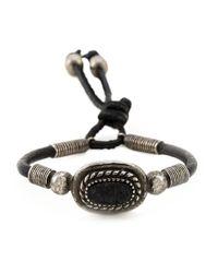 Saint Laurent | Black Concho Style Bracelet for Men | Lyst