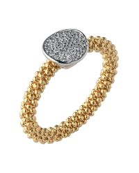 Links of London - Metallic Star Dust Yellow Gold Round Ring - Lyst