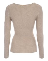Jane Norman | Brown Crossover Wrap Jumper | Lyst