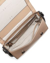 Halston - Gray Small Leather Flap Shoulder Bag - Lyst