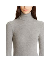 Polo Ralph Lauren - Gray Ribbed Turtleneck - Lyst