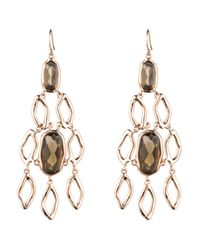 Alexis Bittar | Metallic Liquid Rose Gold Chandelier Earring | Lyst