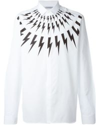 Neil Barrett | White 'lightning Bolt' Shirt for Men | Lyst