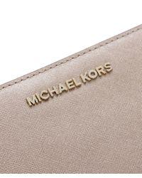 MICHAEL Michael Kors - Jet Set Continental Metallic Purse - Lyst
