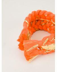 Aurelie Bidermann Orange Double Copacabana Bracelet