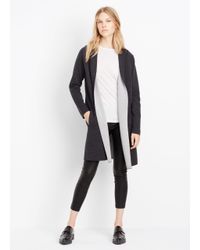 VINCE | Black Double Faced Hooded Sweater Coat | Lyst