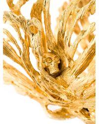 Alexander McQueen | Metallic 'king And Queen' Bangle | Lyst