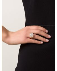 Marie-hélène De Taillac - Metallic Grey Moonstone Ring - Lyst