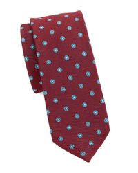 Original Penguin | Red Neat Floral Tie for Men | Lyst