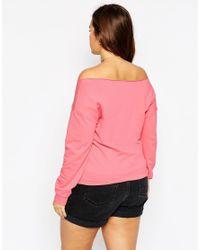 ASOS - Black Off Shoulder Sweatshirt - Lyst