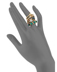 ABS By Allen Schwartz - Green Royal Flush Faceted Ring Set - Lyst