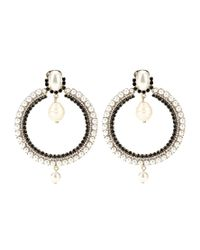 Givenchy | Metallic Crystal-embellished Earrings | Lyst