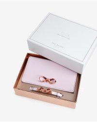 Ted Baker | Pink Bow Detail Phone Sleeve And Bracelet Set | Lyst