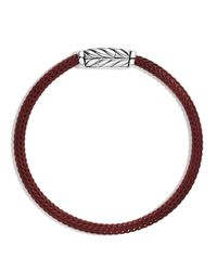 David Yurman | Black Chevron Bracelet In Red for Men | Lyst