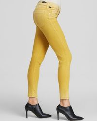 Citizens of Humanity Yellow Jeans - Avedon Ankle Skinny In Fade Citron