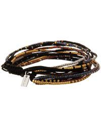 Chan Luu | Black Multi Strand Seed Bead Single Bracelet | Lyst