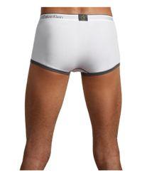 Calvin Klein White Ck One Microfiber Low-rise Trunk U8516 for men