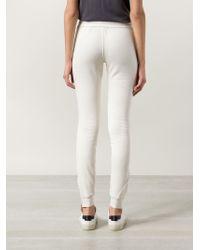 Cotton Citizen - White Zip Detail Track Pants - Lyst