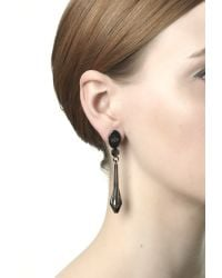 Maria Francesca Pepe - Black Snake Earrings - Lyst