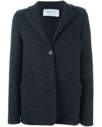 Harris Wharf London - Gray Knitted Wool Blazer  - Lyst
