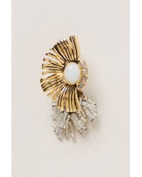 Anthropologie - Metallic Fringed Linzer Earrings - Lyst