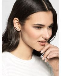 BaubleBar Metallic Ice Sawtooth Ear Crawlers