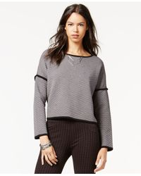 Sanctuary | Black Cropped Contrast Pullover | Lyst