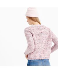 J.Crew | Pink Collection Textured Crewneck Sweater | Lyst