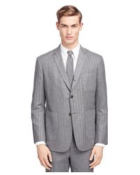 Brooks Brothers Gray Fun Stripe Patch Pocket Sport Coat for men