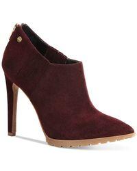 Calvin Klein | Red Women's Berrie Pointed-toe Booties | Lyst
