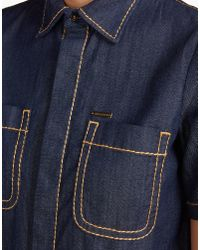 DSquared² - Blue Malaika Short Sleeve Shirt - Lyst
