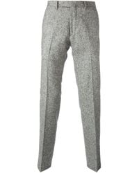 Valentino Gray Tweed Tailored Trousers for men