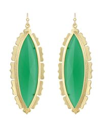 Kendra Scott - Joelle Translucent Glass Earrings Green - Lyst