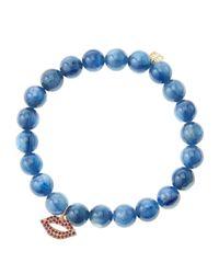 Sydney Evan | Blue Design Your Own Bracelet (made To Order) | Lyst