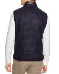 Corneliani Blue Glen Plaid/solid Reversible Vest for men