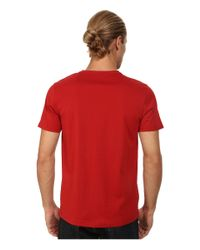 Fred Perry | Red Crew Neck T-shirt for Men | Lyst