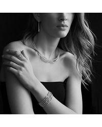 David Yurman - Metallic Willow Medium Drop Earrings With Diamonds - Lyst