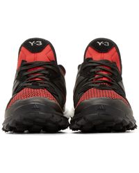 Y-3 | Black And Red Response Tr Boost Sneakers for Men | Lyst