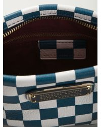 Marc By Marc Jacobs | Blue 'new Q Checkerboard Percy' Crossbody Bag | Lyst