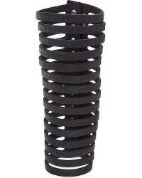 Rick Owens | Black Cutout Leather Arm Cuff | Lyst