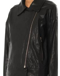 J Brand - Black Durham Leather Jacket - Lyst